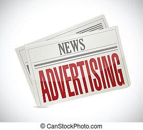 advertising newspaper illustration design