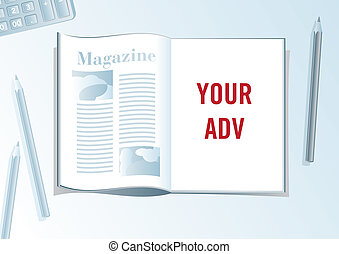 Advertising page presentation format.