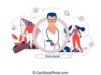 Advertising Poster is Written Find a Doctor Flat.