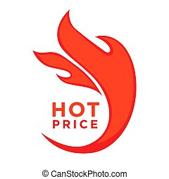 Advertising poster price reduction promo sticker with red ...