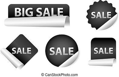 advertising sale stickers