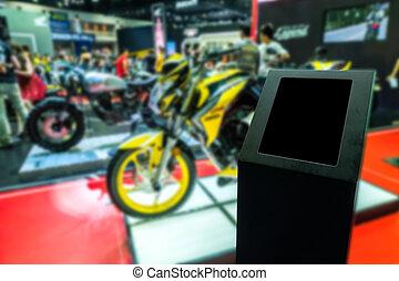 Advertising sales promotion car/effect blur background