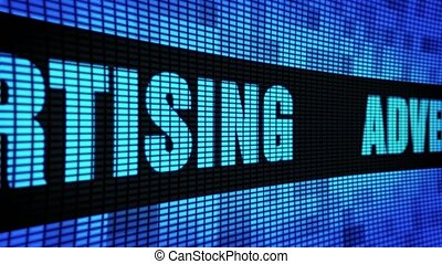 Advertising Side Text Scrolling LED Wall Pannel Display Sign Board