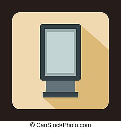 Advertising signs icon, flat style