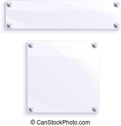 Illustration of advertising signs or notices. Blank for your own message.