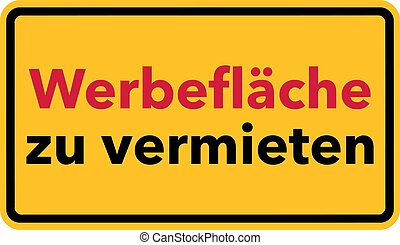 Advertising space on hire sign german - Advertising space on...