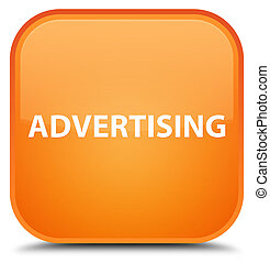 Advertising special orange square button