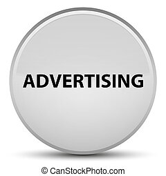 Advertising special white round button