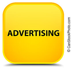 Advertising special yellow square button
