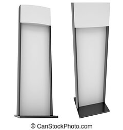 Advertising stand. Isolated render on a white background