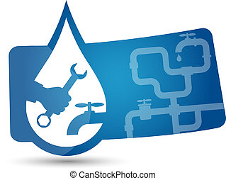 advertising sticker to repair plumbing vector