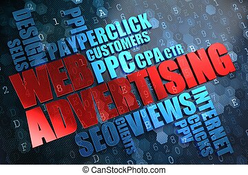 advertising., tela, wordcloud, concept.