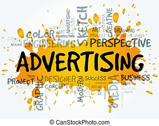 ADVERTISING word cloud, creative concept