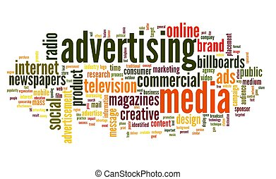 Advertising word in tag cloud - Advertising word concept in...