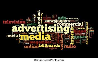 Advertising word in tag cloud