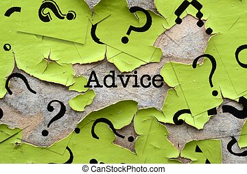 Advice and questions marks