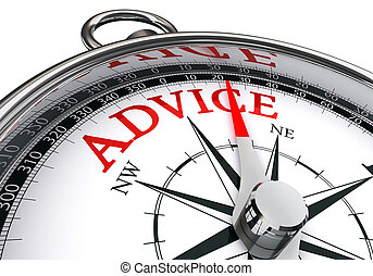 advice compass conceptual image