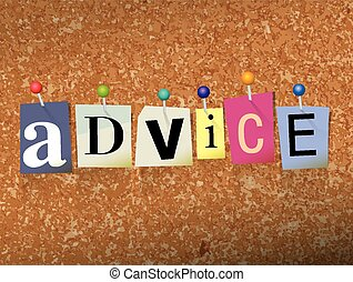 Advice Concept Pinned Letters Illustration