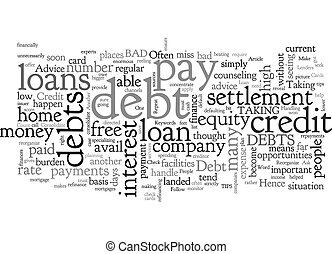 Advice For People With Debt Woes text background wordcloud concept