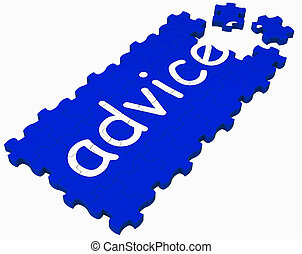 Advice Puzzle Shows Assistance And Guidance - Advice Puzzle ...