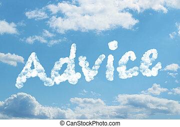Advice word on cloud