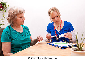 Advising a Senior on the dose of medication - Advising a...
