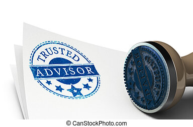 Advisor or Business Consulting Concept - Advisor rubber ...
