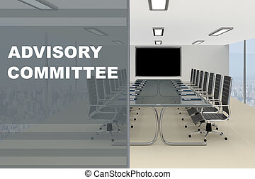 Advisory Committee concept - 3D illustration of 'CADVISORY...