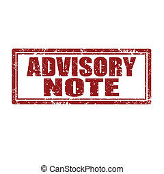 Grunge rubber stamp with text Advisory Note, vector illustration