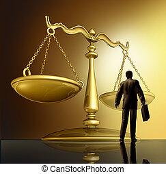 advocaat, en, de, wet