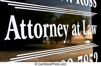 advocaat, op, wet