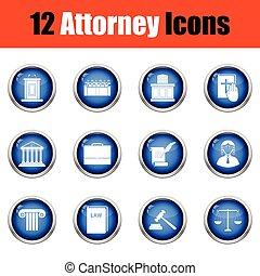 advocaat, set, icons.
