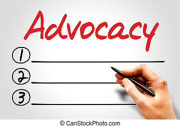 Advocacy blank list, business concept