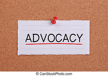 Advocacy Concept - Advocacy concept note paper pinned on...