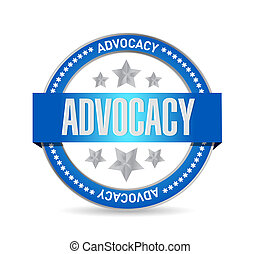 advocacy seal sign concept illustration design over white