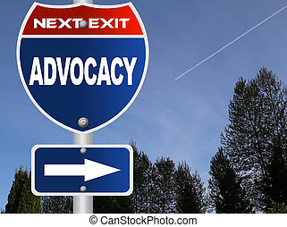advocacy, straße zeichen