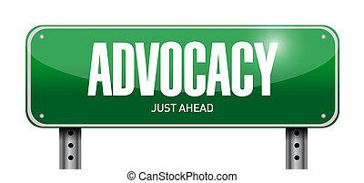advocacy street sign concept illustration
