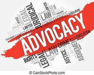 Advocacy word cloud