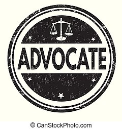 Advocate grunge rubber stamp