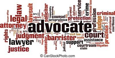 Advocate word cloud