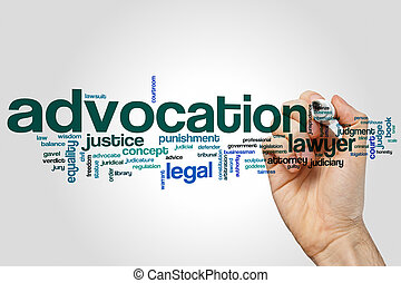 Advocation word cloud