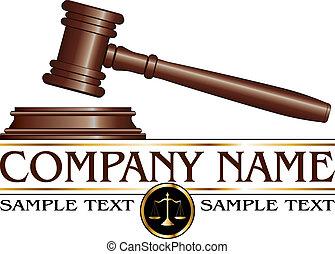 advogado, ou, firma lei, desenho