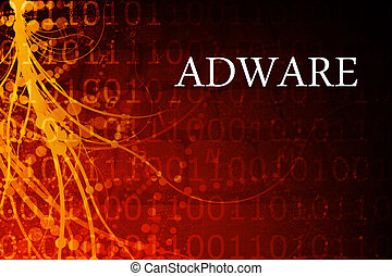 Adware Abstract Background in Red and Black