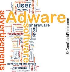 Adware background concept