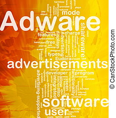 Adware background concept - Background concept wordcloud...