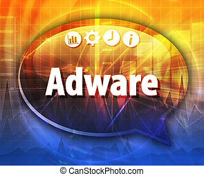 Adware Business term speech bubble illustration
