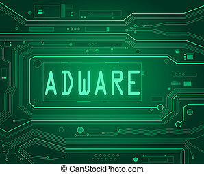 Adware concept. - Abstract style illustration depicting...