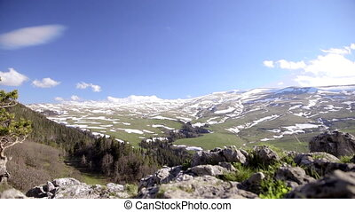 Adygeya. Mountain plateau Lagonaki - Left to right Slide...