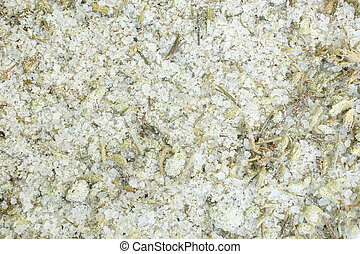 Adyghe salt with different spices, for backgrounds or textures