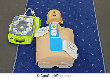 AED mannequin - Automated External Defibrillator with...